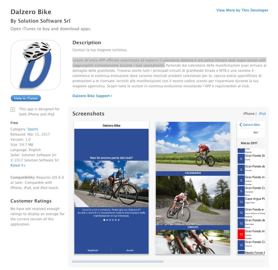 Apple Store - Dalzero Bike