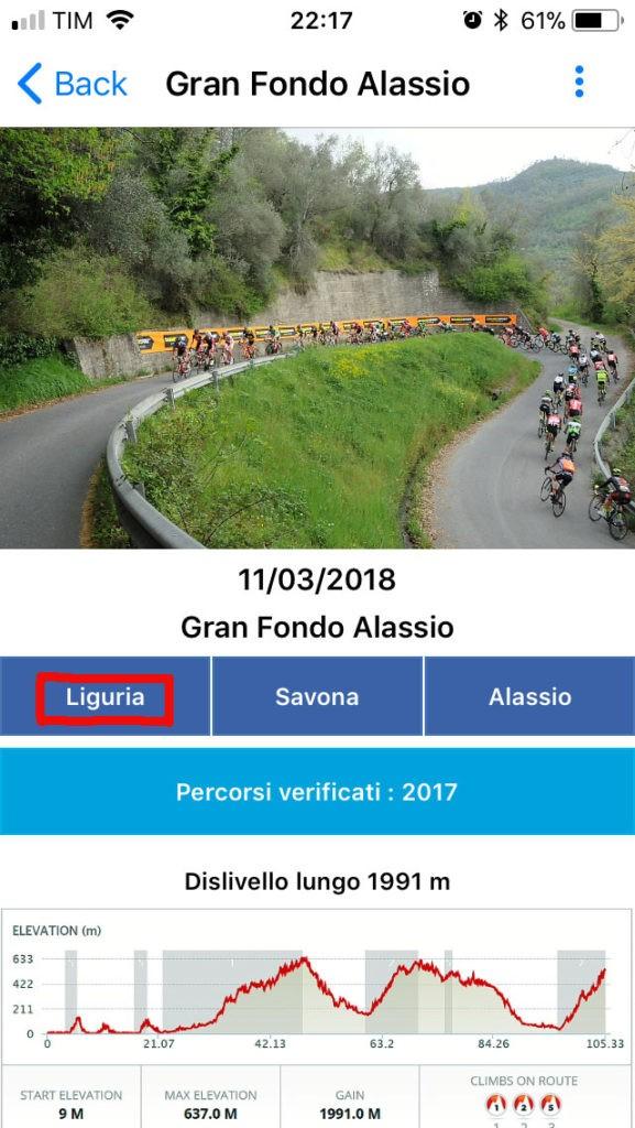 APP Dalzero Bike - Filtro Geografico
