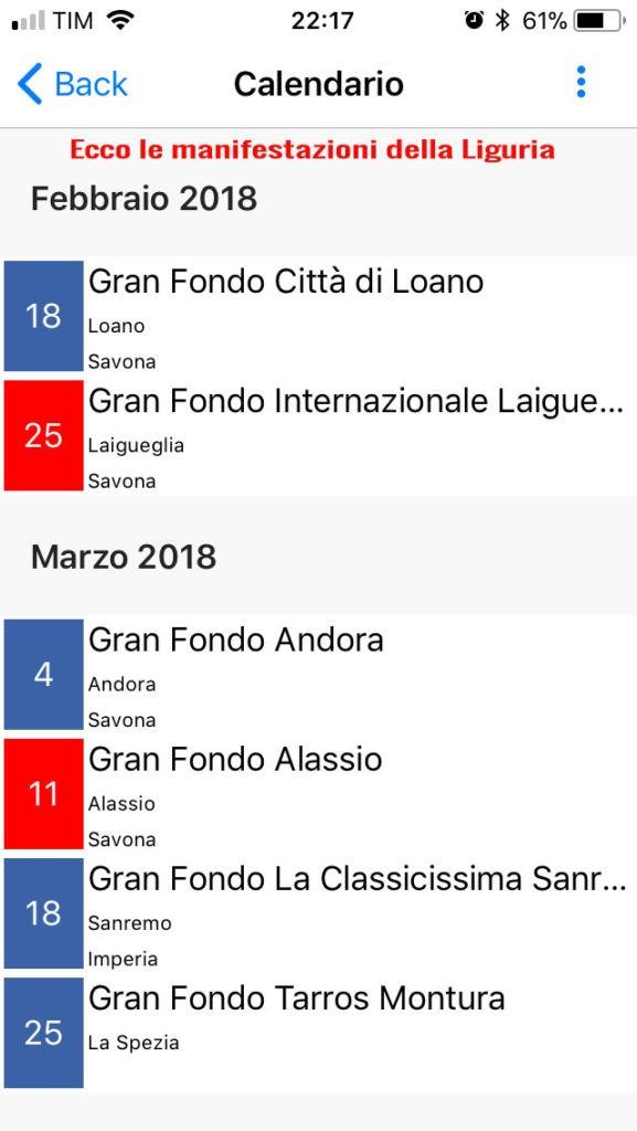 APP Dalzero Bike - Elenco Liguria